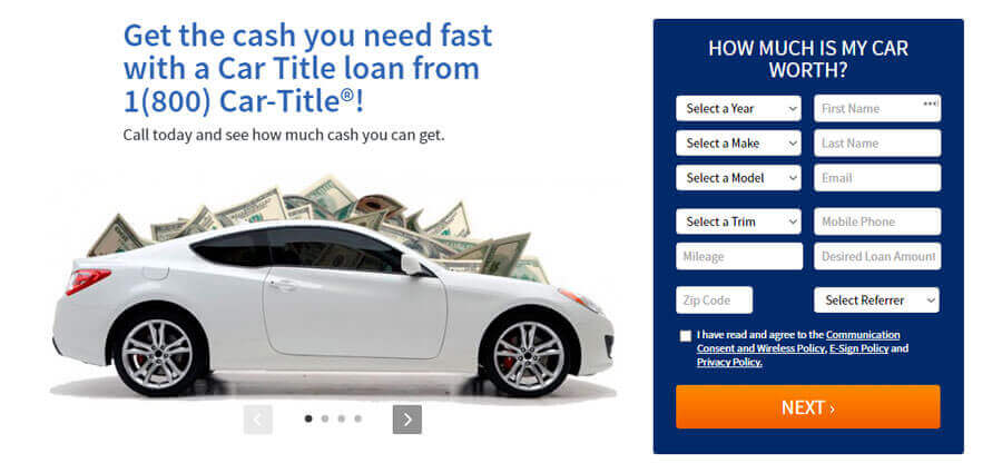1 800 Car Title Review Top 9 Loan Companies