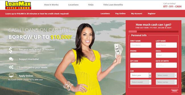LoanMax homepage